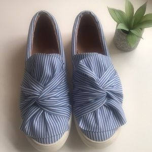 Target blue and white sneaker